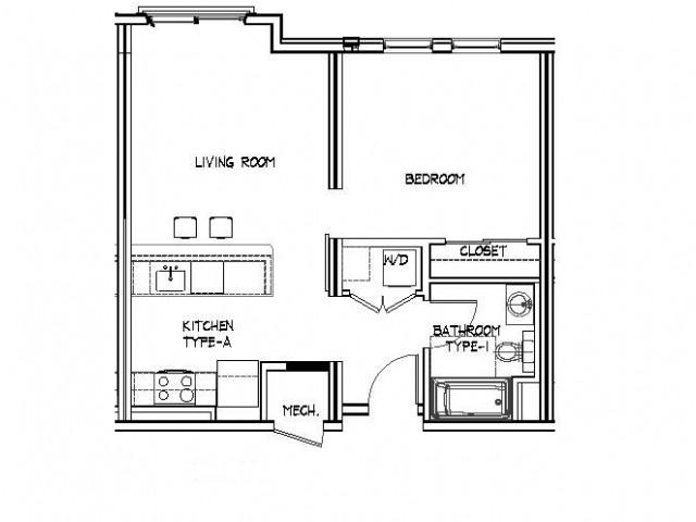 Floor Plan 4 | Allston Apartments | Trac 75