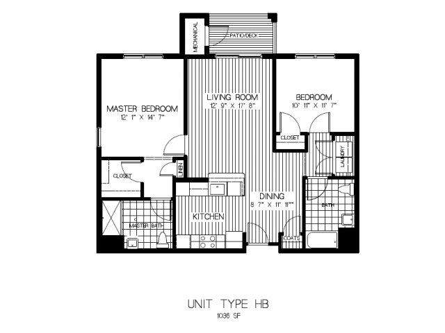 Floor Plan 4 | Apartments In Canton MA | Residences at Great Pond