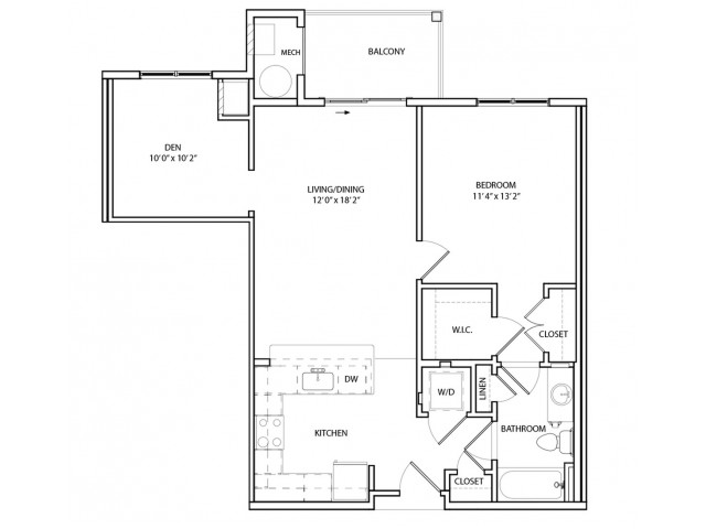 Floor Plan 5 | Apartments Near Baltimore MD | Overlook at Franklin Square