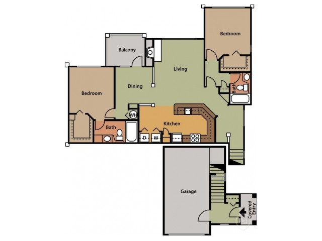 Floor Plan 14 | Cary NC Apartments | Brook Arbor