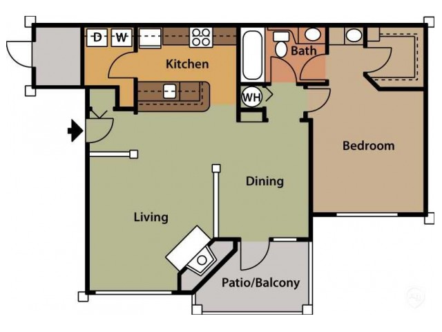 Floor Plan 4 | Cary NC Apartments | Brook Arbor