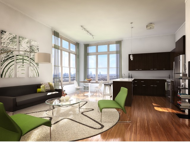 Image of Views of the Boston Skyline (in select homes) for One North of Boston