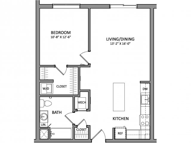 Floor Plan 2 | New Apartments Beverly MA | Link 480
