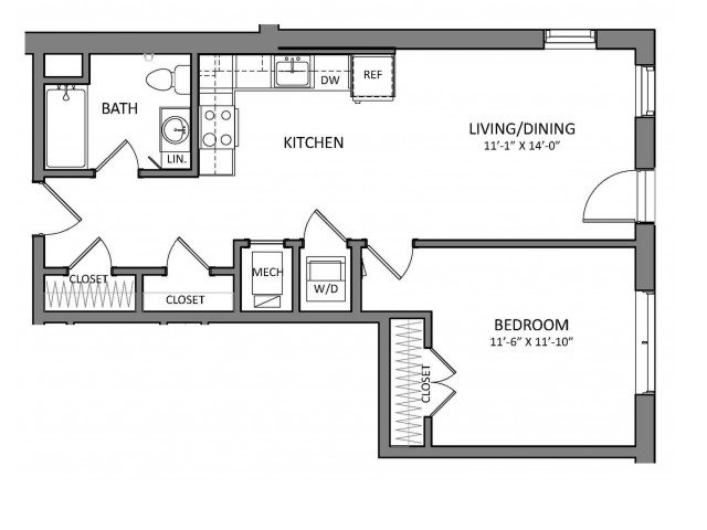 Floor Plan 4 | Apartments For Rent North Of Boston | Link 480