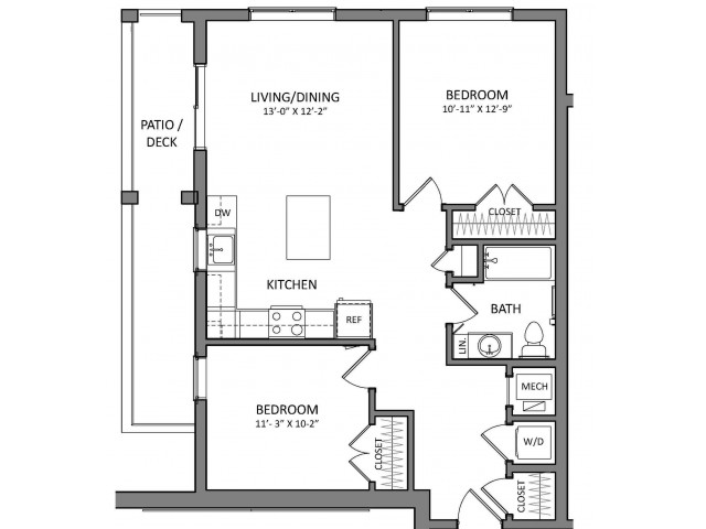 Floor Plan 8 | Apartments In Beverly MA | Link 480