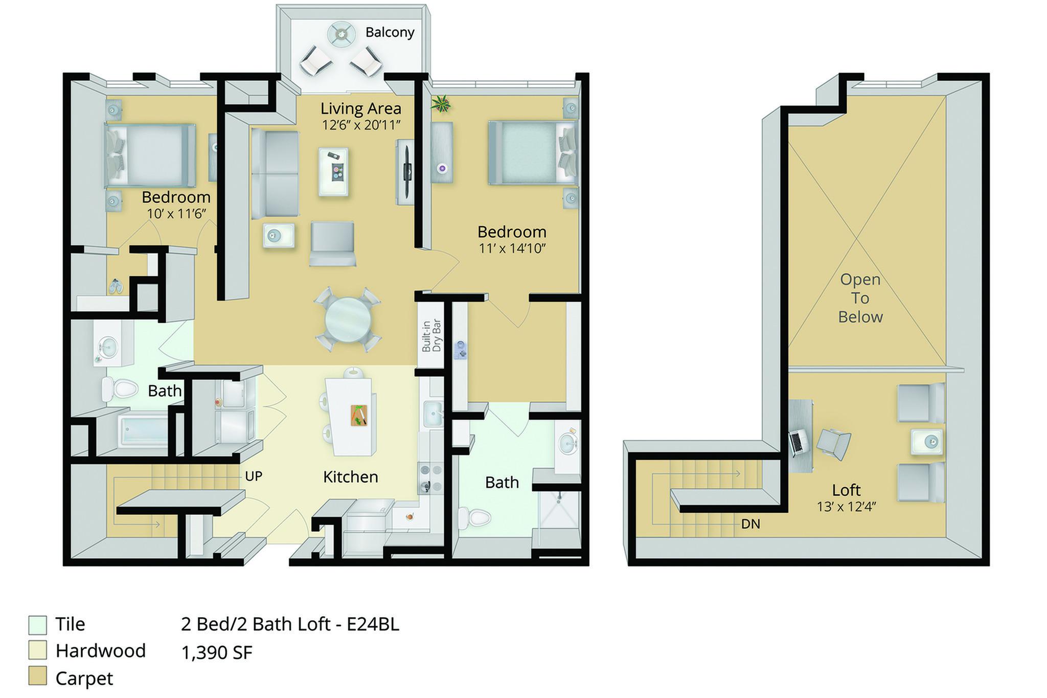 east main apartments - Flooring Plan