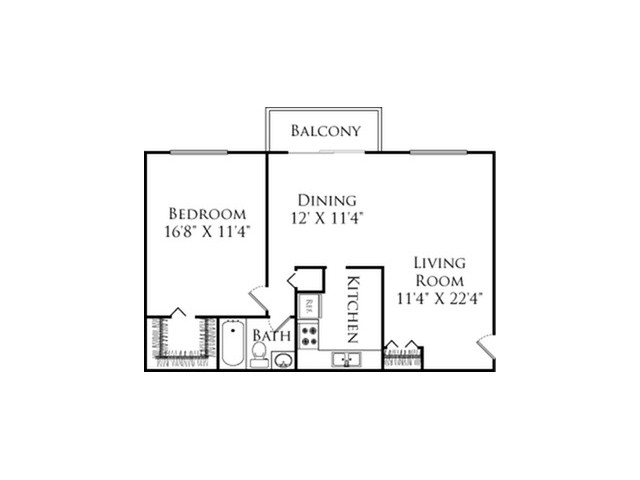 One bedroom / one bathroom.  Features a walk in closet, vinyl plank flooring, and stainless steel appliances.