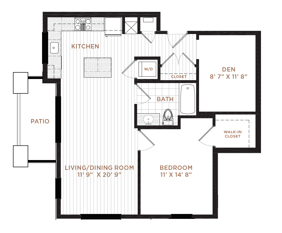 Floor Plan 5 | Manchester Apartments NH | Corsa