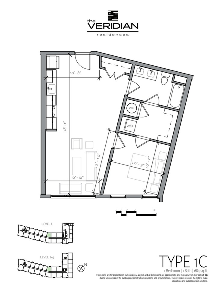 Floor Plan 1 | Portsmouth NH Luxury Apartments | Veridian Residences