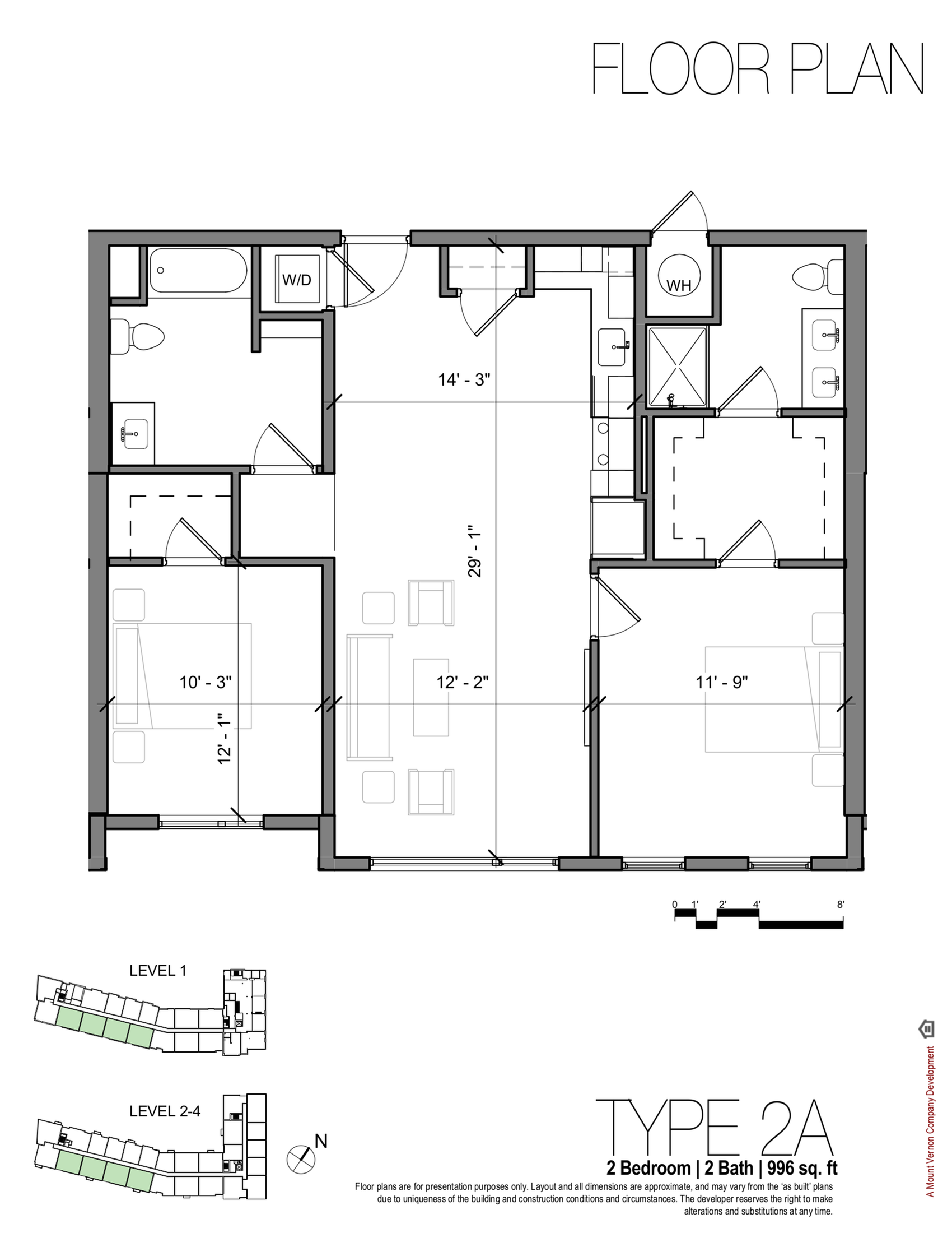 2 Bedroom Floor Plan | Apartments In Portsmouth NH | Veridian Residences