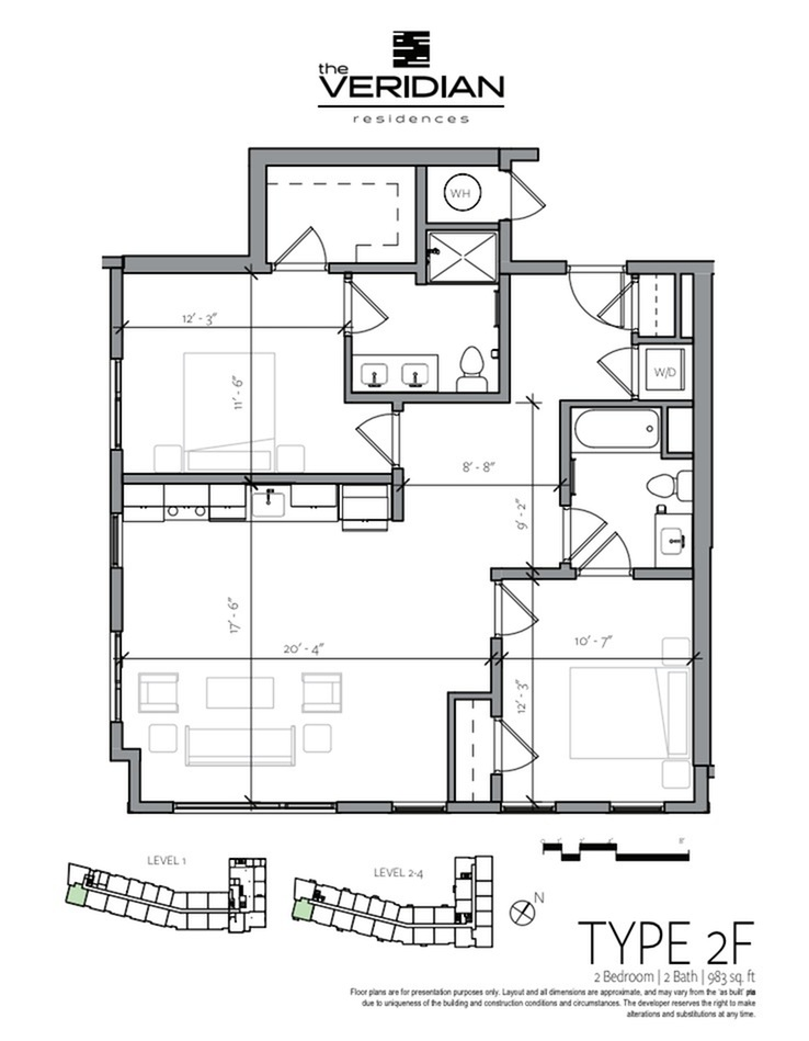 Floor Plan 7 | 1 Bedroom Apartments In Portsmouth NH | Veridian Residences