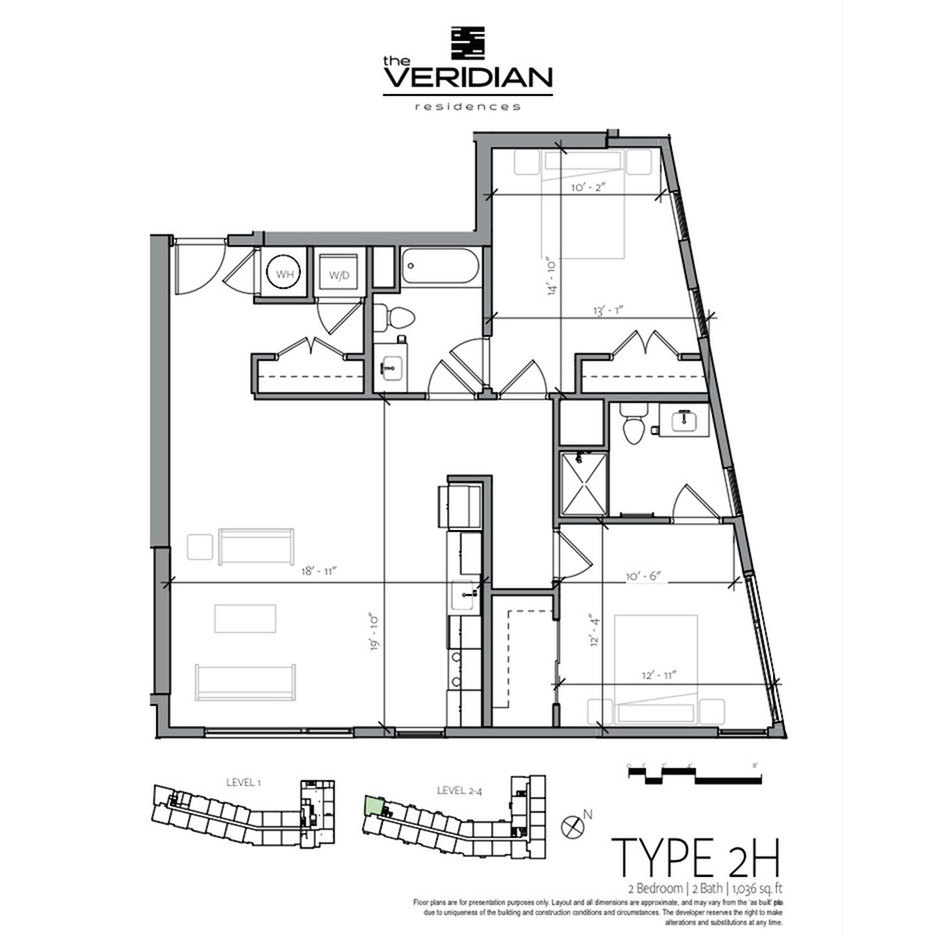 Floor Plan 9 | Portsmouth NH Apartments For Rent Downtown | Veridian Residences