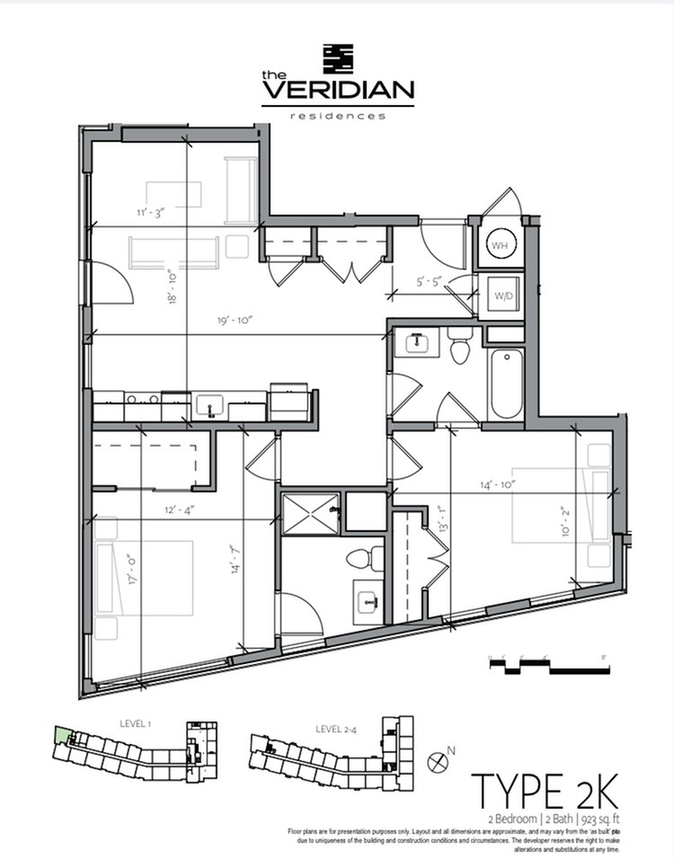 Floor Plan 12 | 1 Bedroom Apartments In Portsmouth NH | Veridian Residences