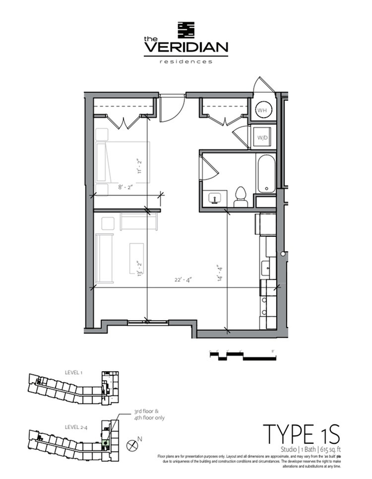 Studio Floor Plan | Apartments In Portsmouth NH | Veridian Residences