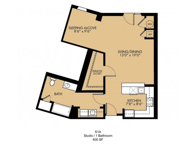 Floor Plan 1 | Luxury Apartments Malden MA| Strata