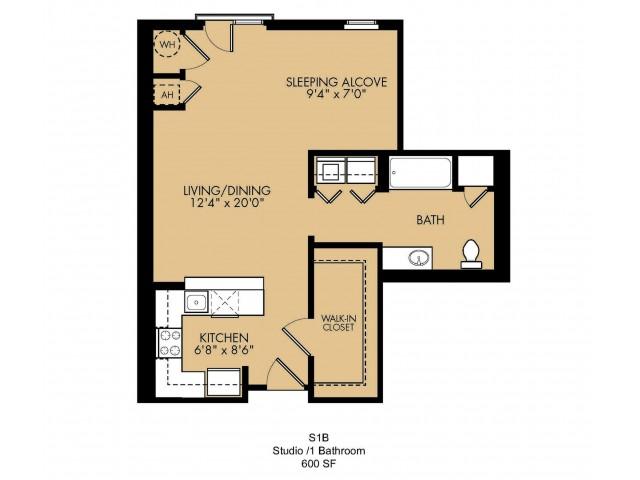 Floor Plan 2 | 2 Bedroom Apartments In Malden MA| Strata