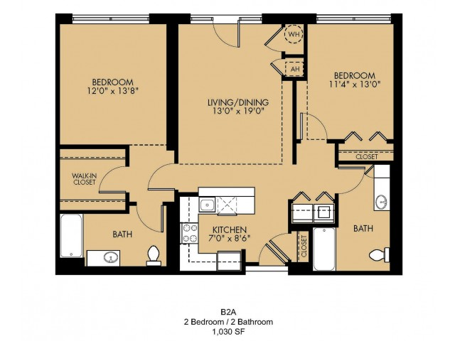 Floor Plan 12 | 2 Bedroom Apartments Malden Ma | Strata