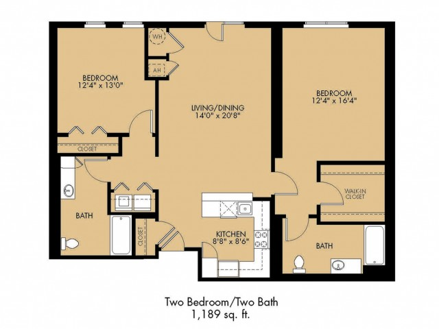 Floor Plan 17 | 2 Bedroom Apartments Malden Ma | Strata