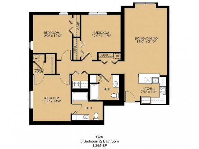 Floor Plan 32 | 2 Bedroom Apartments Malden Ma | Strata