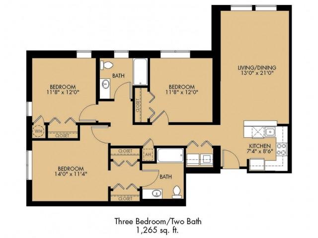 Floor Plan 34 | Luxury Apartments Malden Ma | Strata