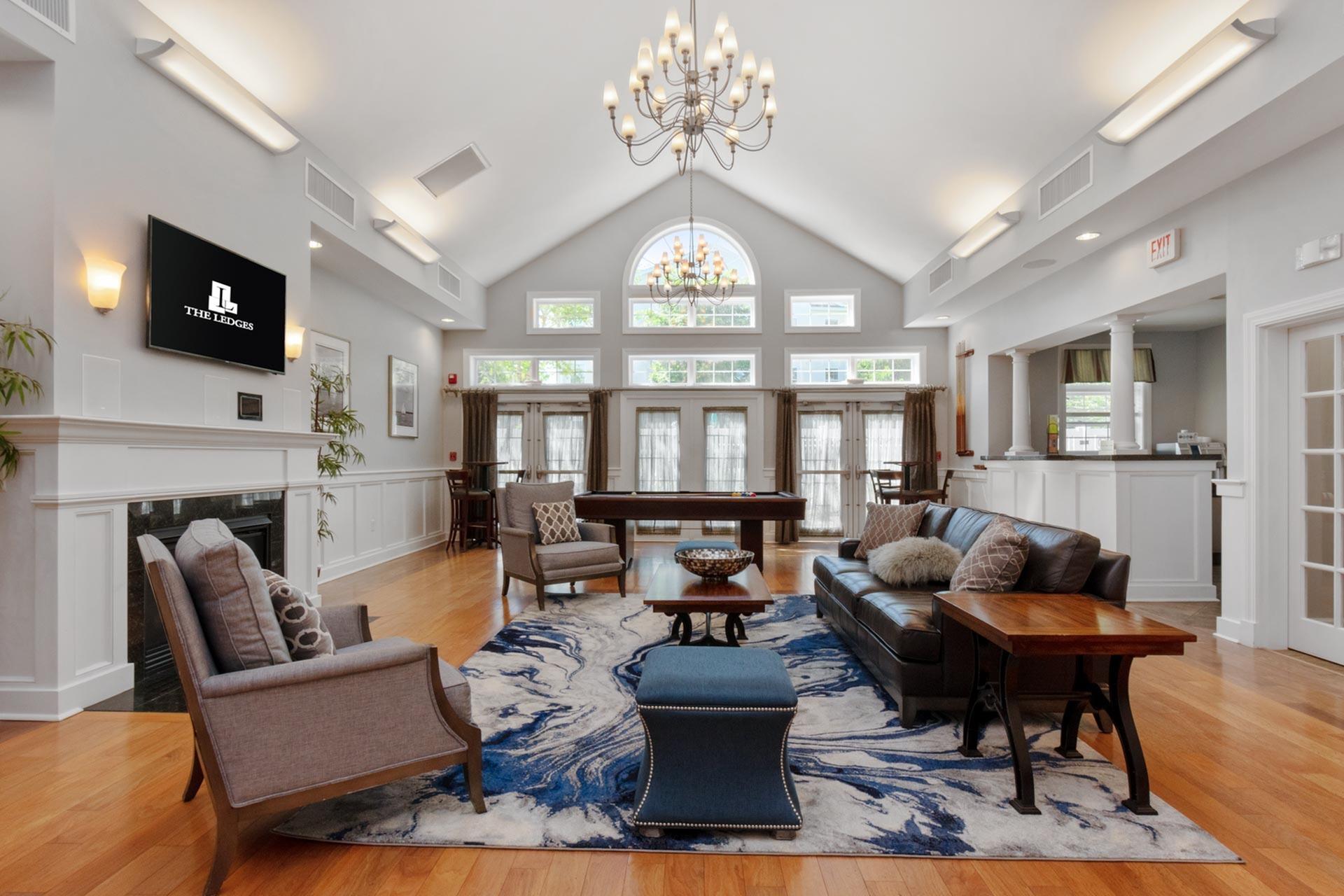 Spacious Resident Club House | Luxury Apartments Johnston RI | Ledges at Johnston