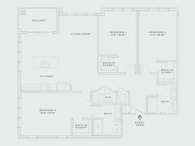 Three Bedroom / Two Bath