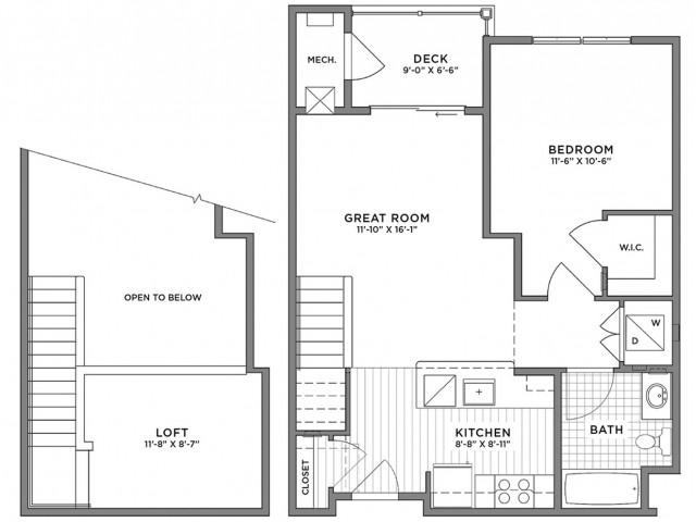 1 Bedroom Floor Plan | Luxury Apartments Weymouth MA | The Gradient1 Bedroom Floor Plan | Luxury Apartments Weymouth MA | The Gradient