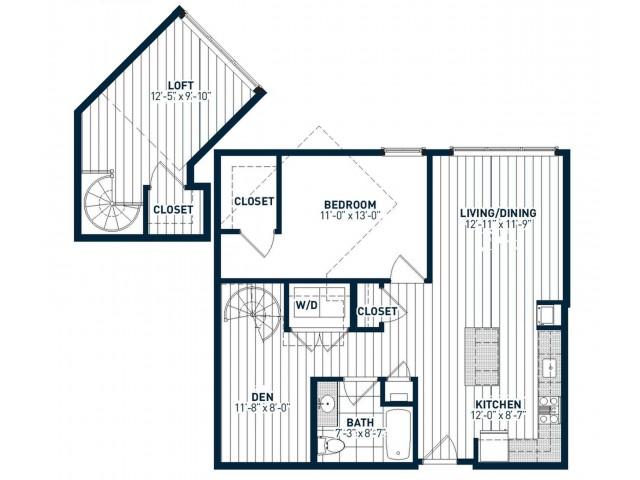 A1DL Floor Plan