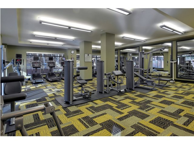 Image of Fitness Center with Cardio Theatre for Parc Rosslyn Apartments