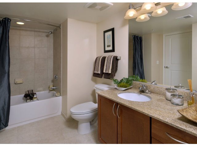 Image of Ceramic Tile and Tub Surrounds in Bathrooms for Parc Rosslyn Apartments