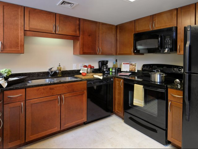 Image of Stylish Black Appliances for Parc Rosslyn Apartments
