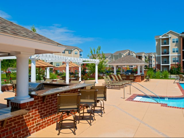 Image of Poolside Cabana Grill and Fire Pit for Meridian Watermark