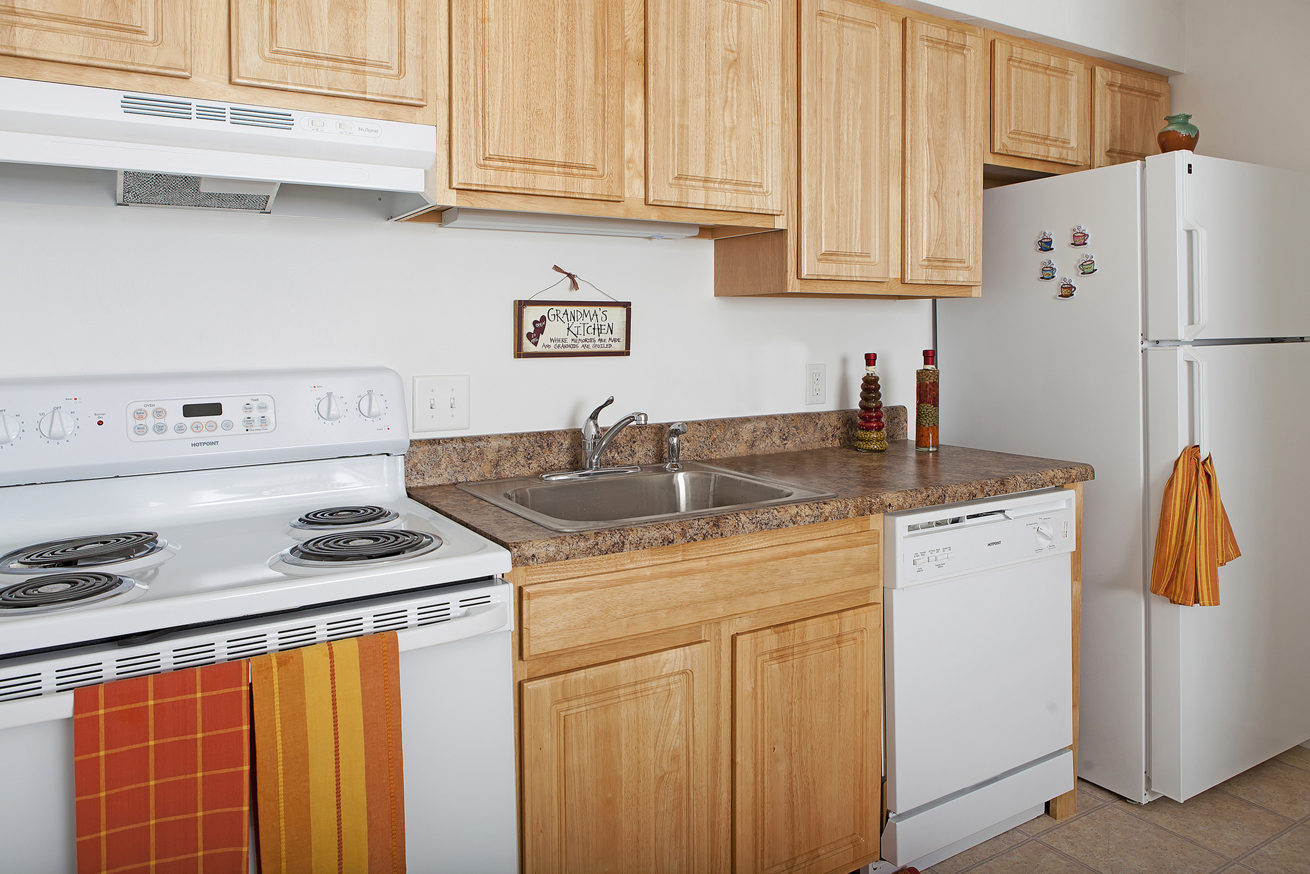 dishwasher in fully-equipped and energy-efficient kitchen