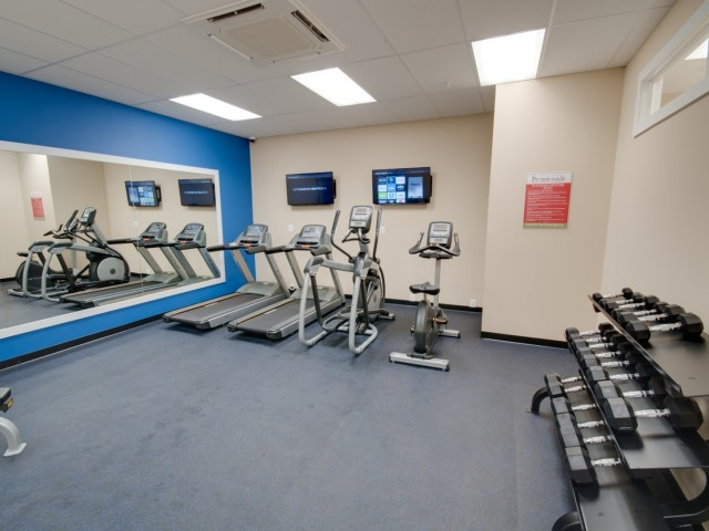 fitness center at the community