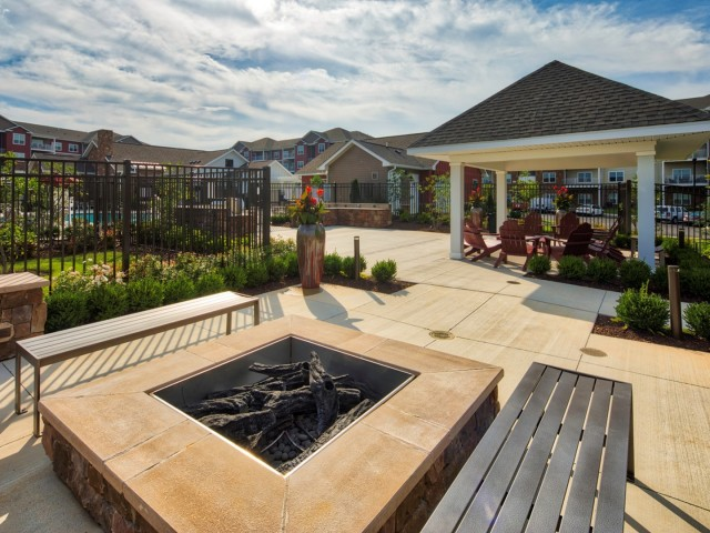 Image of Fire Pit and Outdoor Resident Lounge Area for The Fred Apartment Homes