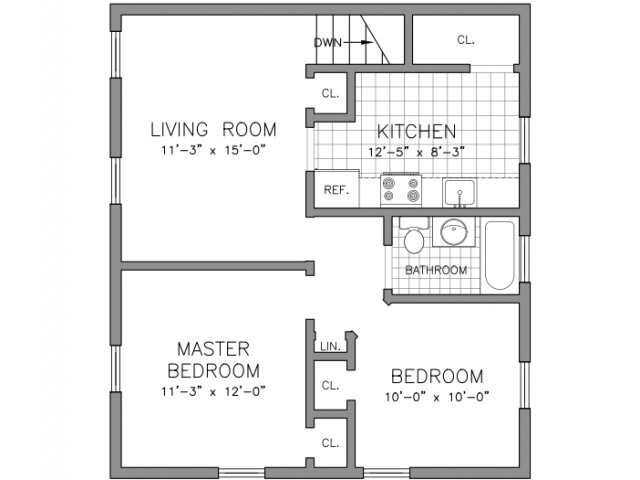 Two Bedroom - Renovated