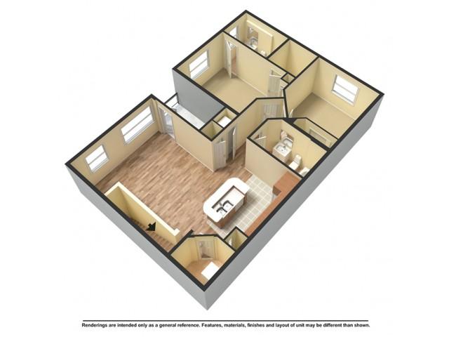 Two Bedroom Luxury Terrace