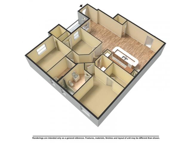 Three Bedroom Luxury Garden