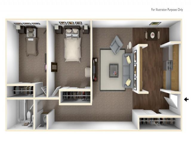 2 x 1 floor plan