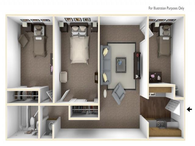 3 x 1 floor plan