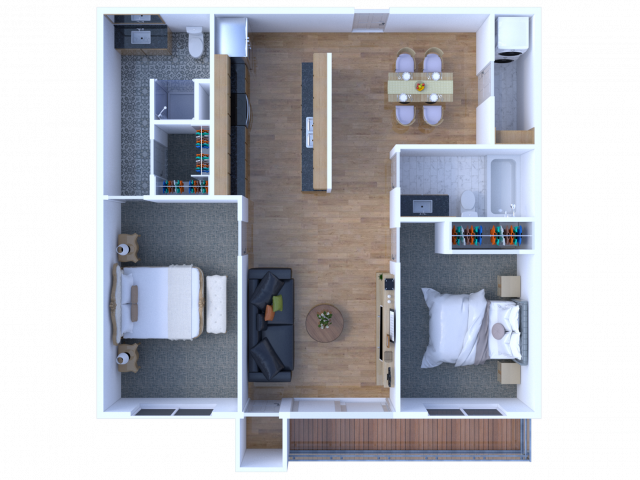 2 Bedroom 2 Bathroom Apartment - View