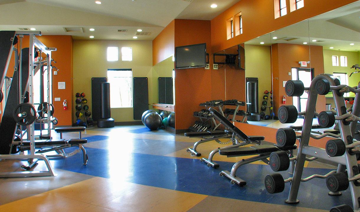 Feeling good at Liv is a way of life. We have made sure residents have exclusive access to one of the finest 24/7 fitness centers in all of Chandler, as well as a Bark Park and jogging path so that you and your pet can stay fit together.
