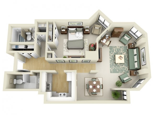 2D Floor Plan Image For The Floor Plan B Floor Plan Of Property The Greenhouse  Apartments
