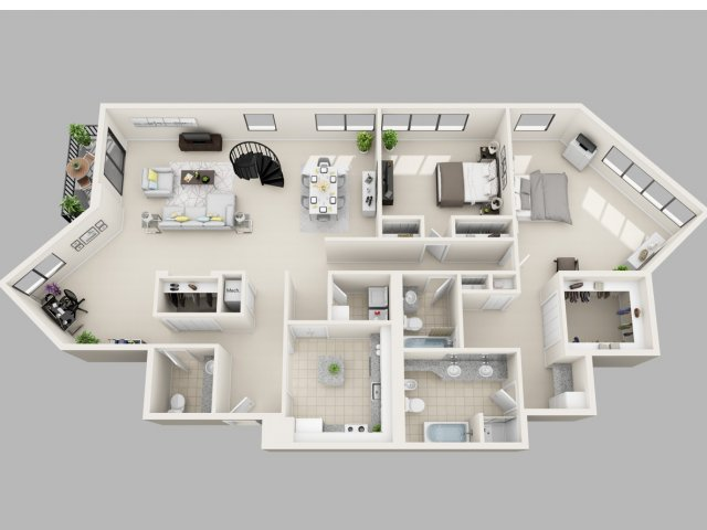 1 on Luxury Penthouse Apartment Floor Plans