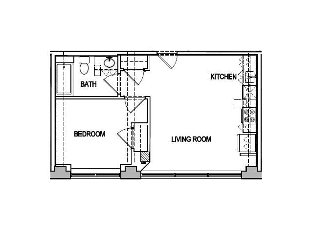 0 For The One Bedroom Floor Plan