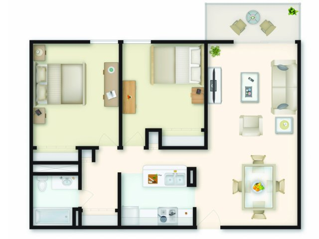 2 Bedroom Floor Plan | Apartments In Medford MA | Mystic Place
