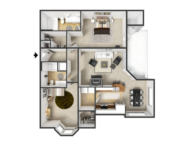 Floor Plan 58 | Merritt at Sugarloaf
