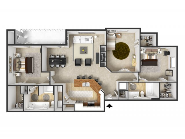 Floor Plan 73   Merritt at Sugarloaf