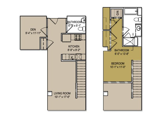 One Bedroom Townhouse + Den