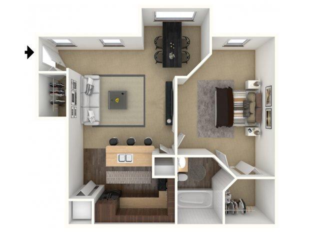 1 Bedroom Floor Plan | Providence Lakes